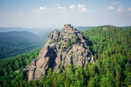 Central pillars in the Krasnoyarsk Pillars nature reserve