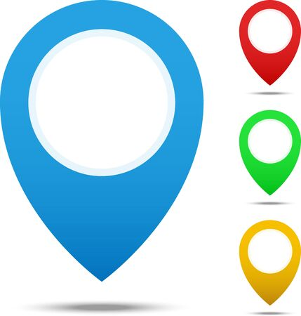 geolocation: Set of different colors map pointers for websites UI or applications app for smartphones or tablets.