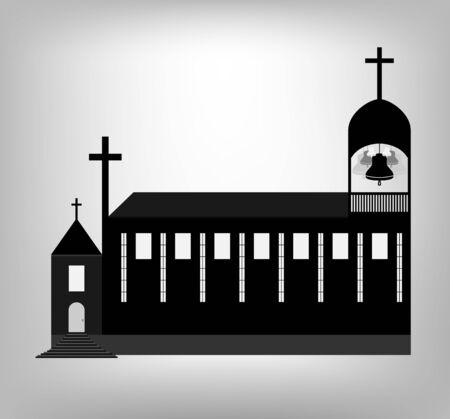 ローマ カトリック教会の塔の鐘。イラスト eps 10