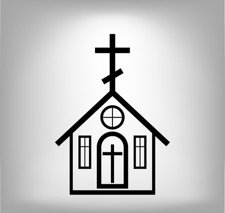 クロスの付いたアイコンを教会です。