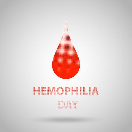 hemophilia: World hemophilia day, red halftone dotted blood drop. Vector illustration EPS 10