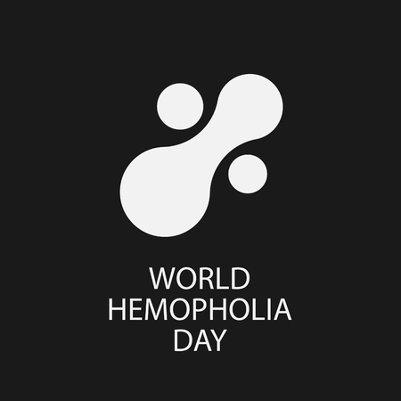 White Icon of fresh blood plasma. World Hemophilia day concept. Vector illustration EPS 10 Ilustração