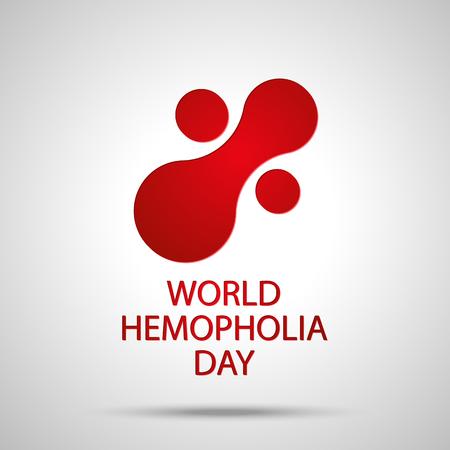 hemophilia: World hemophilia day. Abstract icon of blood test. Vector illustration EPS 10 Illustration
