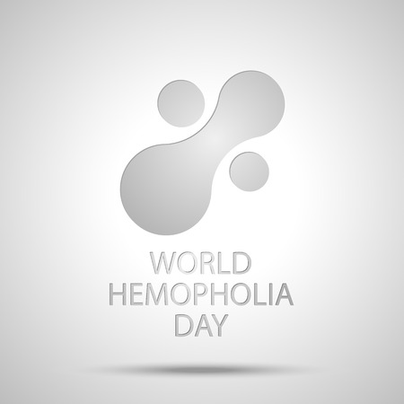 Design silver icon of world hemophilia day. Vector illustration EPS 10