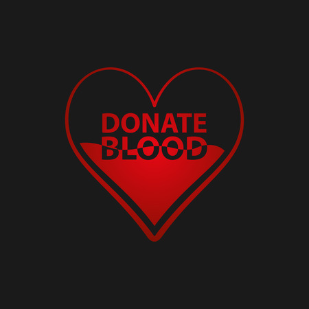 pulses: Heart half of blood. Donate blood concept. Vector illustration EPS 10