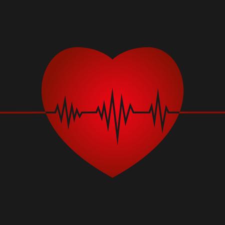 Life line inside a heart shape.Vector illustration Illustration