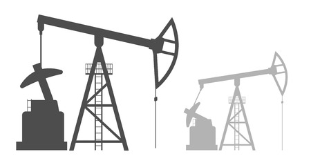 vector black illustration of Oil pump on white Illustration