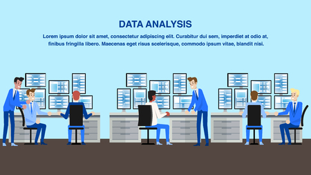 Financial Data Analysis Office. Technology Center Workspace. Analytics Work and Strategy Monitoring. Personal Marketing Manager in Workflow. Finance Market Research and Statistics.