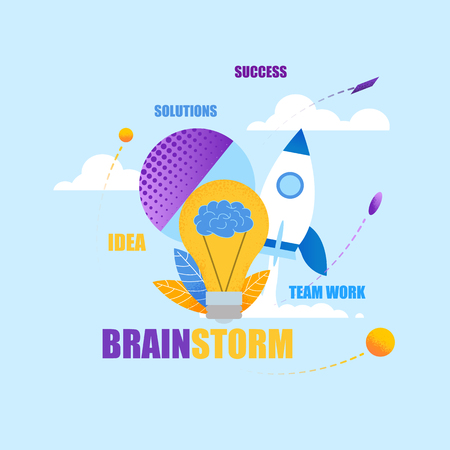Square Flat Banner Brainstorm Idea Solutions Success Team Work Strategy Work on non Standard Approach Solving issues and Problems. Extensive Experience in Solving Complex Problems.