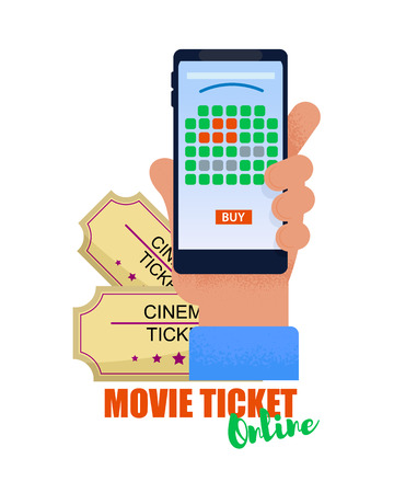 Booking seats in Cinema Smartphone Ordering Movie Tickets for Premiere in Mobile Device. Booking Tickets and Booking Places for Night Show. Movie Ticket Online. Watch latest Movie Trailers.