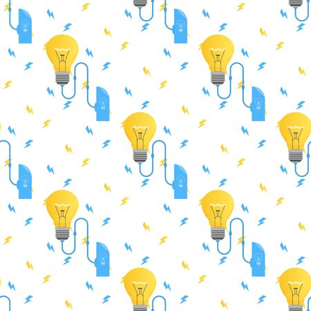 Alternative Eco Energy Saving Seamless Pattern Design  Repeated