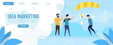 Metaphor Flat Landing Page Offer Idea Marketing. Ilustração