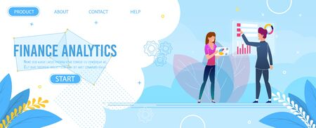 Finance Analytics and Data Research Landing Page.