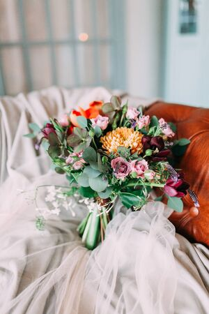 wedding decor, European flowers printing and cake Foto de archivo