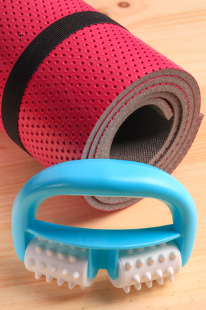 Set for the treatment of cellulite. Fitness foam roller, ideal for self-massage.