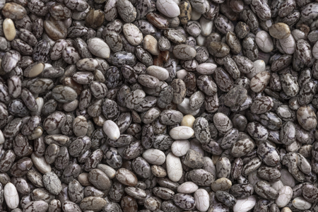 Chia seed background close up. Useful food concept Stock Photo