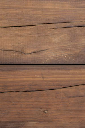 Old wooden plank background. Cracked weathered brown wood texture