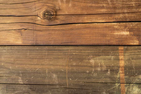 Old wood plank texture. Cracked weathered brown wooden background Standard-Bild