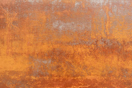 Rusty textured bright tile background. Rust close up