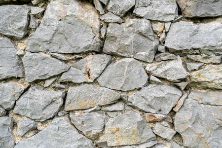 Rock wall background. Closeup. Copspace. Natural gray texture