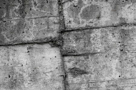 Cement wall with rough seam close up Фото со стока