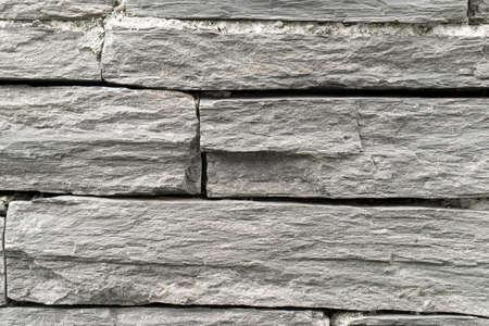 Slate Stone Wall Background Texture close up Фото со стока - 156098978