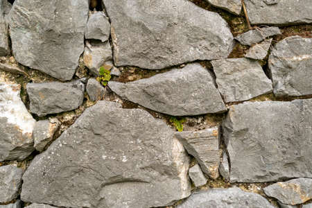 Stone wall texture abstract close up. Natural background Stock fotó