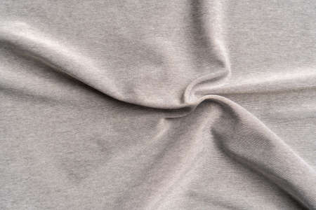 closeup synthetic crumpled polyester fiber textured background. Pleat wrinkled pattern Фото со стока - 156750743