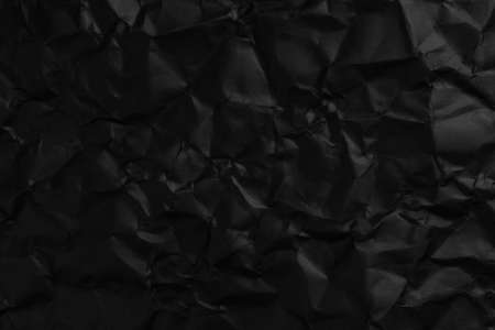 Crumpled Black Paper Blank