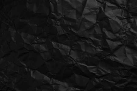 Wrinkled Black Paper. Abstract dark blank Stock fotó