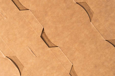 Cardboard background of packaging material with cells close up Stock fotó