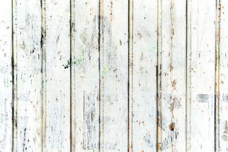 Vintage Grungy White Painted Natural Wood Fence Planks with Old Wood Texture