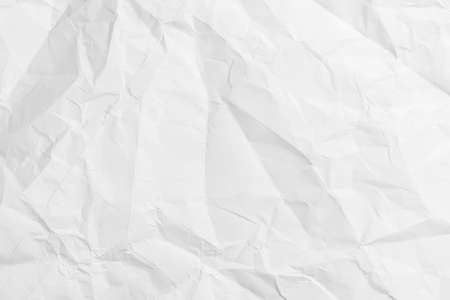 Crumpled wrinkled white paper. Empty blank