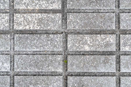 Geometric pattern of road tiles close up. Abstract background. Texture. Copy space