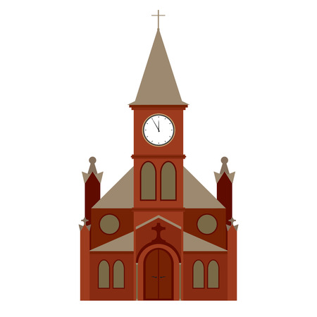 edificio de la iglesia vector, icono de la religión cristiana