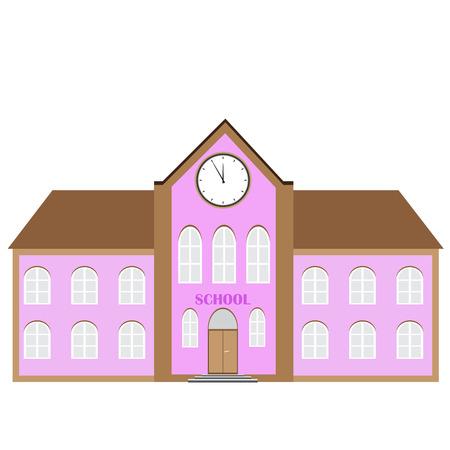 establishment: vector illustration of school building. educational establishment icon.