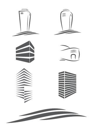 logotipo de construccion: vector inmobiliario logo conceptos e ideas