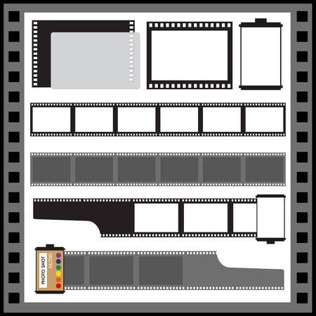 camera film: vector blank film strip illustration. Camera film roll. Illustration