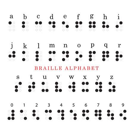 braille: vector braille alfabeto y los n�meros del sistema