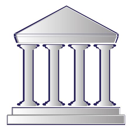 portico: vector illustration of bank icon. ancient stoa. portico.