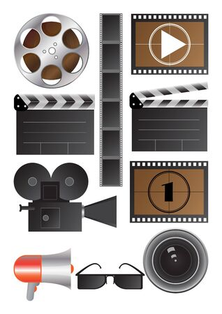 cinematography: vector objects for cinematography industry Illustration
