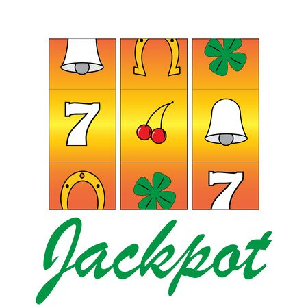 jackpot: casino gamble jackpot slots machine. vector illustration Illustration