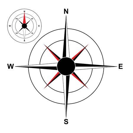 compass rose: compass vector illustration of vintage wind rose