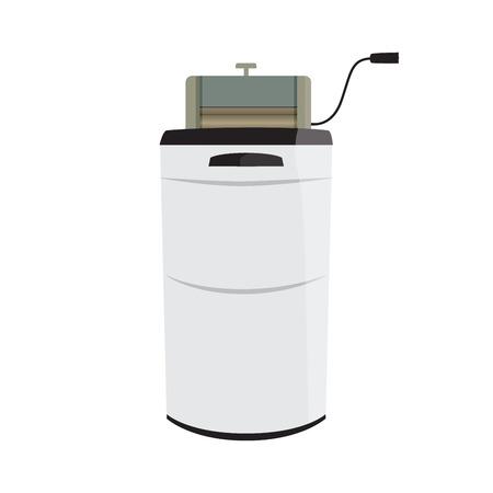 wash machine: vector illustration of a retro wash machine with wringer