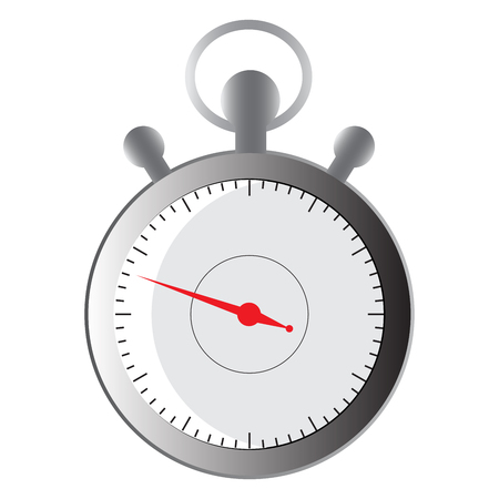 chromatic: Timer icon vector illustration. chromatic timer with red arrow on a white background. Illustration
