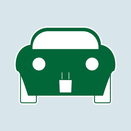 electric vehicles: Vector illustration of electric car icon. symbol of ecological vehicles
