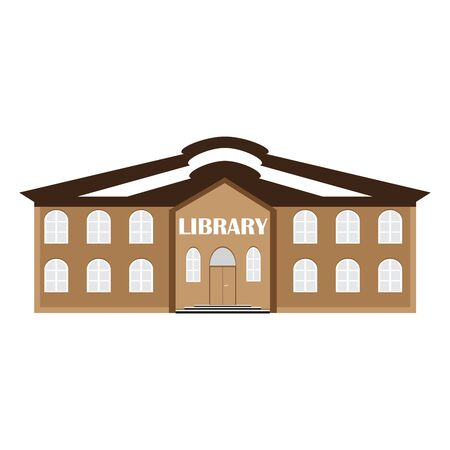 library: vector illustration of a library building. icon of education and knowledge.
