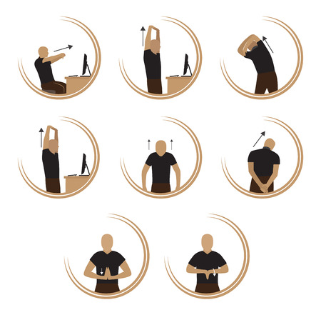 Oefening om Relax Body Van Computer Stress