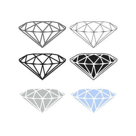 Vector diamond icon or logo concept. brilliant symbol of wealth