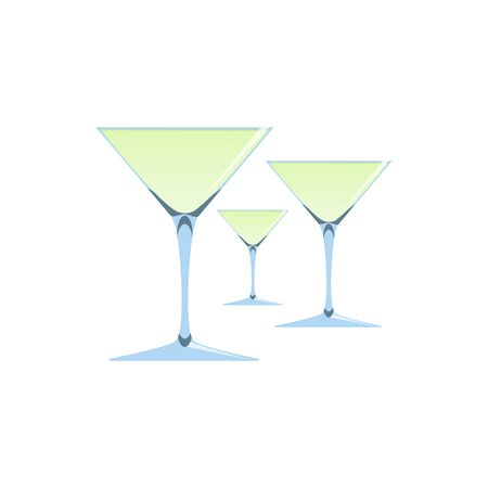 clink: Vector illustration of wine or champagne glasses isolated on white background.